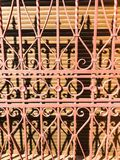 Elemento della grata del metallo sulla finestra Fotografia Stock Libera da Diritti
