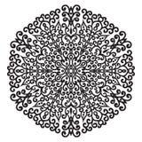 Elemento della mandala dello zentangle del disegno della mano Fotografie Stock
