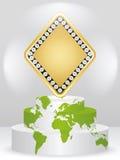 Elemento della mazza - rhombus Fotografie Stock Libere da Diritti