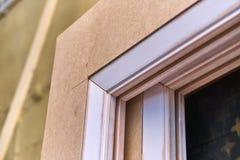 Elemento della porta Dettaglia la produzione del legno Immagine Stock