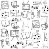 Elemento della scuola di scarabocchio di tiraggio della mano Immagine Stock