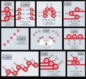 Elemento delle collezioni per il modello dell'aletta di filatoio di affari di infographics royalty illustrazione gratis