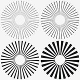 Elemento dello sprazzo di sole Starburst, bande radiali Insieme del raggio, fascio Vettore illustrazione vettoriale