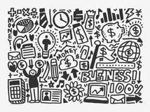 Elemento di affari di scarabocchio Fotografia Stock