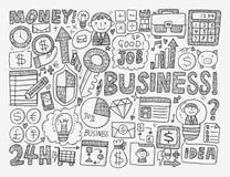 Elemento di affari di scarabocchio Immagini Stock