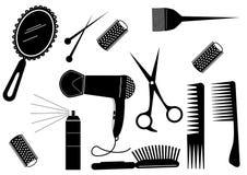 Elemento di bellezza di stile di capelli Immagine Stock