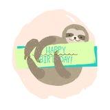 Elemento di bradipo della carta Fotografia Stock Libera da Diritti