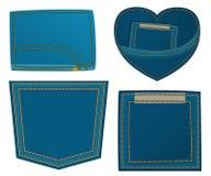 Elemento di disegno dei jeans Immagine Stock