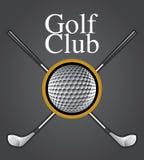 Elemento di disegno del club di golf Immagine Stock Libera da Diritti