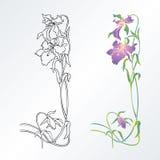 Elemento di disegno del fiore Immagine Stock