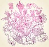 Elemento di disegno del fiore Fotografia Stock