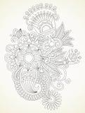 Elemento di disegno del fiore illustrazione vettoriale