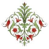 Elemento di disegno della decorazione del fiore Immagine Stock Libera da Diritti