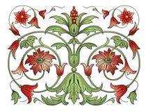 Elemento di disegno della decorazione del fiore Fotografie Stock Libere da Diritti