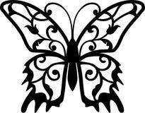 Elemento di disegno della farfalla Immagini Stock Libere da Diritti