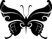 Elemento di disegno della farfalla Fotografie Stock