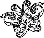 Elemento di disegno della farfalla Fotografie Stock Libere da Diritti
