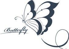 Elemento di disegno della farfalla Fotografia Stock Libera da Diritti