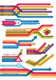 Elemento di disegno delle frecce Fotografia Stock