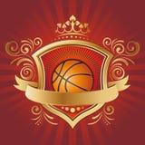 elemento di disegno di pallacanestro Immagine Stock