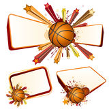 elemento di disegno di pallacanestro Fotografie Stock