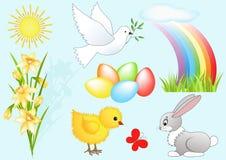 Elemento di disegno di Pasqua. Immagini Stock