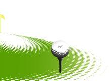 Elemento di disegno di sport di golf Fotografie Stock Libere da Diritti