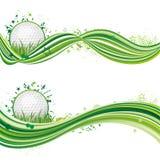 elemento di disegno di sport di golf Fotografia Stock
