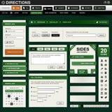 Elemento di disegno di Web verde scuro