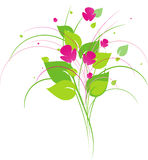 Elemento di disegno floreale Fotografie Stock Libere da Diritti