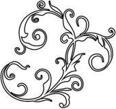 Elemento di disegno floreale Immagine Stock