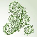 Elemento di disegno floreale Fotografia Stock Libera da Diritti