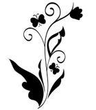 Elemento di disegno floreale Immagini Stock Libere da Diritti