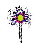 Elemento di disegno floreale Immagini Stock