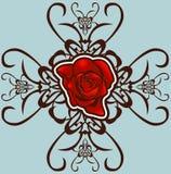 Elemento di disegno floreale Illustrazione Vettoriale