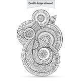 Elemento di Henna Paisley Doodle Floral Design Fotografia Stock Libera da Diritti