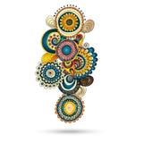 Elemento di Henna Paisley Mehndi Doodles Design. Fotografie Stock Libere da Diritti