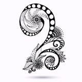 Elemento di Henna Paisley Mehndi Doodles Design. Immagini Stock