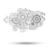 Elemento di Henna Paisley Mehndi Doodles Design Fotografie Stock