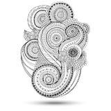 Elemento di Henna Paisley Mehndi Doodles Design Immagini Stock Libere da Diritti