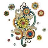 Elemento di Henna Paisley Mehndi Doodles Design Immagine Stock