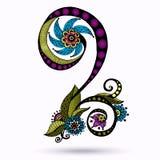 Elemento di Henna Paisley Mehndi Doodles Design Fotografie Stock Libere da Diritti