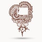 Elemento di Henna Paisley Mehndi Doodles Design Fotografia Stock Libera da Diritti