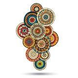 Elemento di Henna Paisley Mehndi Doodles Design Immagini Stock