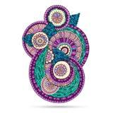 Elemento di Henna Paisley Mehndi Doodles Floral Immagini Stock Libere da Diritti