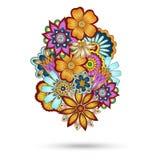 Elemento di Henna Paisley Mehndi Floral Vector Immagine Stock Libera da Diritti