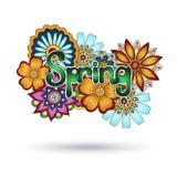 Elemento di Henna Paisley Mehndi Floral Vector Fotografia Stock Libera da Diritti