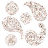 Elemento di Henna Paisley Mehndi Vector Design Fotografie Stock Libere da Diritti