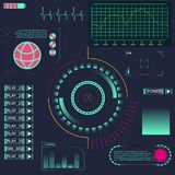 Elemento di HUD UI per il app Interfaccia utente futuristica Interfaccia utente grafica virtuale astratta di tocco Elemento di HU illustrazione vettoriale
