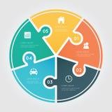 Elemento di Infographic del cerchio Fotografie Stock